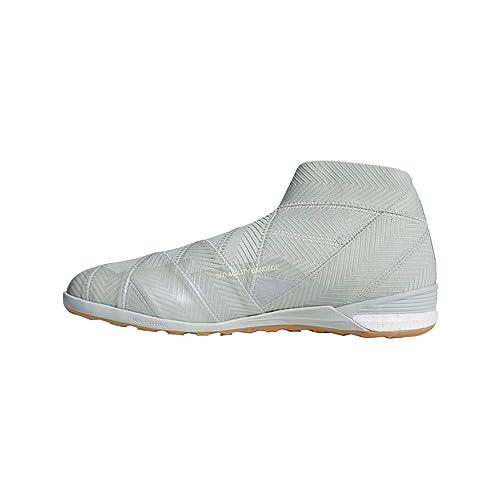 buy online c4221 ba50a adidas Nemeziz Tango 18+ IN, Zapatilla de fútbol Sala, Ash Silver-White