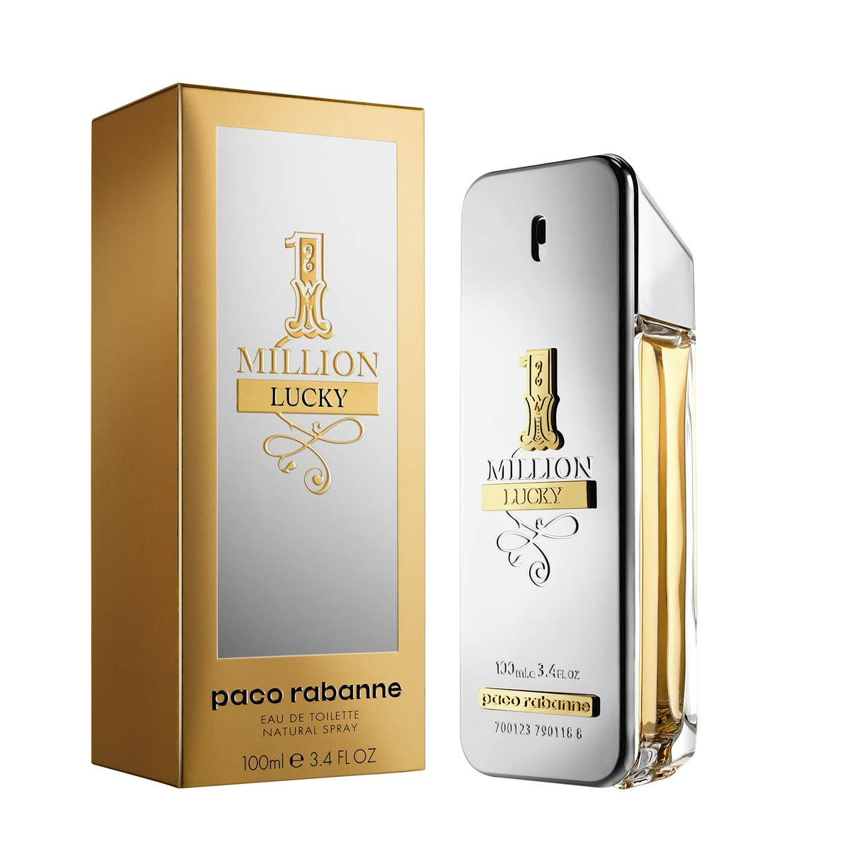 1 Million Lucky by Paco Rabanne Eau de Toilette Spray 100ml by paco rabanne (Image #2)