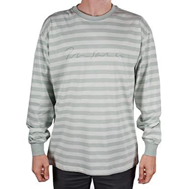 3d5035b6b9 Polar Skate Co. Signature Striped L/S Knit T-Shirt (Grey) | Amazon.com