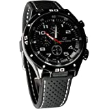 Bluelans Cool Men's Racer Military Pilot Aviator Army Silicone Sports Watch