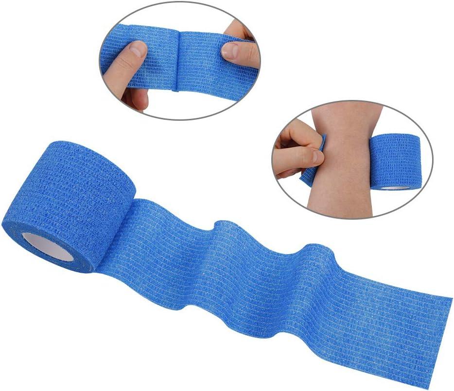 Black Yumi V Cohesive Bandages 6 Rolls Self Adhesive Pet Vet Wrap Bandage Elastic Sports Bandages Non-woven Cohesive Support Bandage Water Repellent Breathable Keep Skin Comfortable