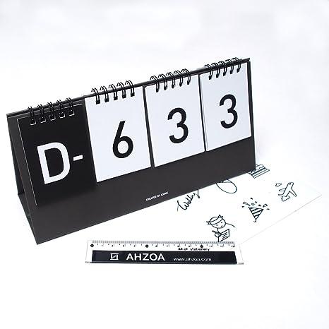 Amazon.com: I D Day Calendario con ahzoa Mini Regla, cuenta ...