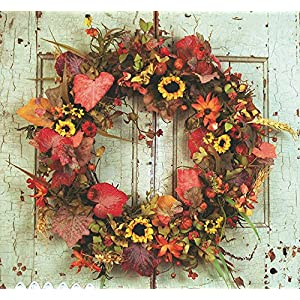 Autumn Solstice Fall Wreath For Doors 44
