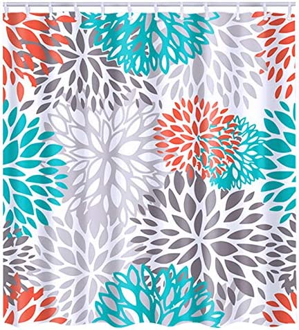 Peva Ocean Shower Curtain 72 Inch Starfish Shower Curtain and Colorful /& White 3D Shell Vinyl Shower Curtain Liner Shower Curtain Non Toxic for Bathroom /& Toilet