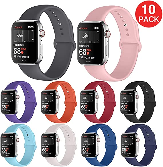 Kaome Compatible with Apple Watch Band 38mm 40mm 42mm 44mm for Women Men