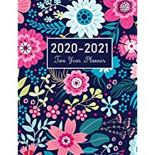 2020-2021 Two Year Planner: Flower Watecolor Cover | 2 Year Calendar 2020-2021 Monthly | 24 Months Agenda Planner with Holiday | Personal Appointment ... 8.5x11, 24 Months Jan 2020 to Dec 2021)