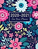 2020-2021 Two Year Planner: Flower Watecolor