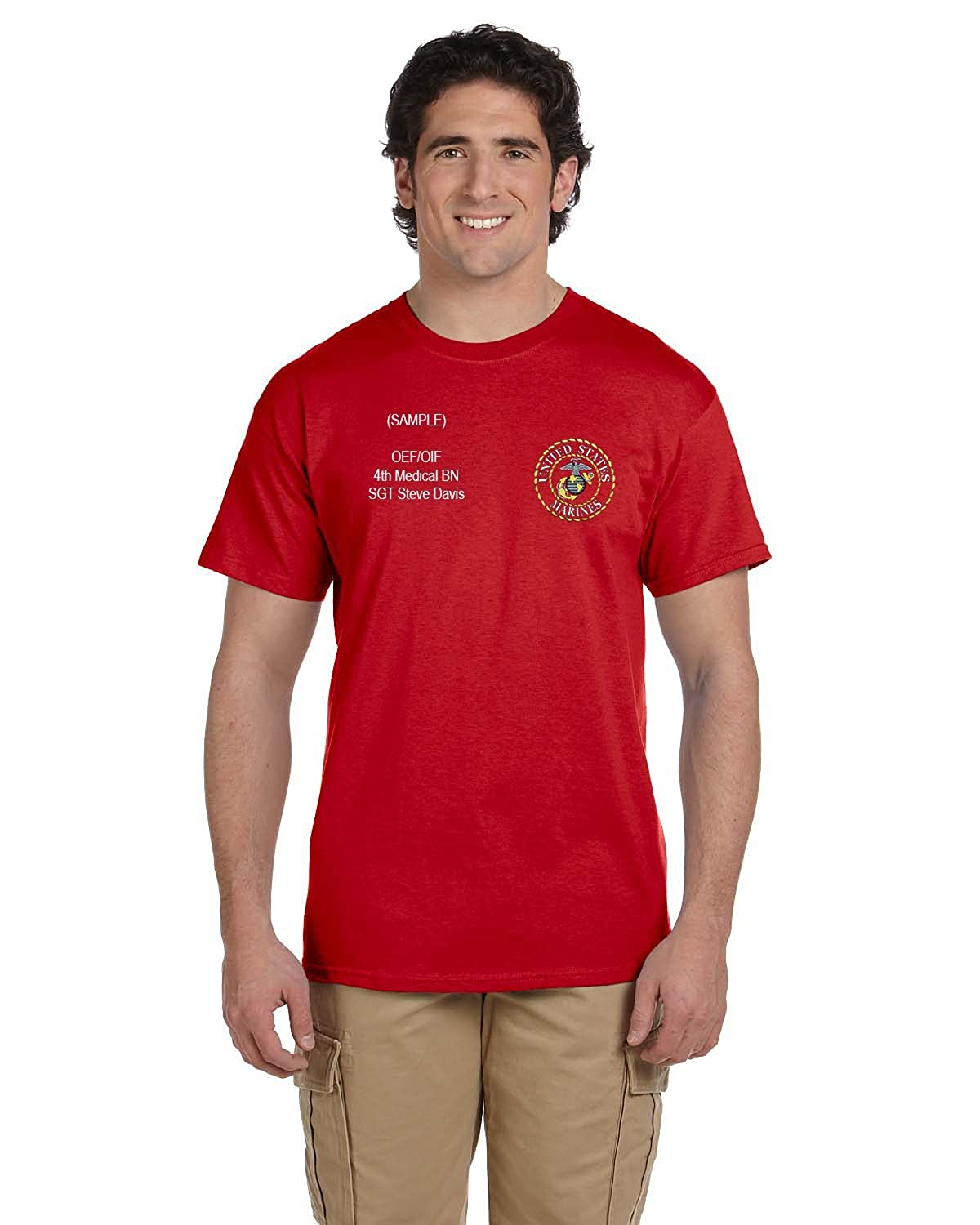 Us Marine Corps Personalized Custom Embroidered T Shirt Amazon