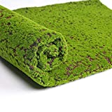 Julvie Artificial Grass Turf, Fake Moss Grass Rug, Outdoor Carpet Simulation Plants Decor Green Moss Lawn Landscape Synthetic Grass for Home Shopwindow Wall Festival Wedding(39.37x39.37 inch)