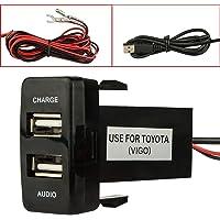 Cargador dual del coche del USB del puerto con la carga audio del zócalo USB para las cámaras digitales/los dispositivos…