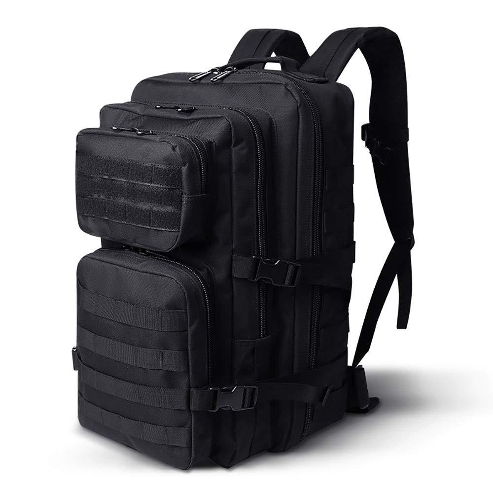 AY-MBJDFX アウトドアハイキングバックパック、 メンズレディース 45L容量、 コンピュータバッグ、 旅行/キャンプ用バックパック 防水 (色 : 黒) B07NPMD5LW 黒