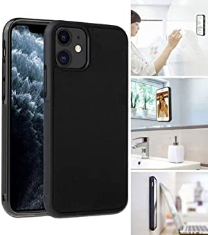 [ Monca ] Anti Gravity Cellphone Case [Black] Magical Nano Technology Stick to Glass, Whiteboards, Tile, Smooth Flat Surfaces (iPhone 11)