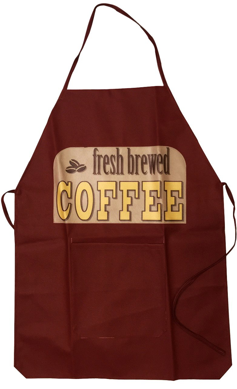 Cute Cooking Chef Aprons for Women Also Work for Kitchen Kids or Mens Aprons (Fresh Brewed Coffee)
