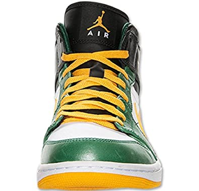 huge discount 48cf7 b1e86 Image Unavailable. Image not available for. Color  Jordan Air 1 Mid GS Green  Yellow