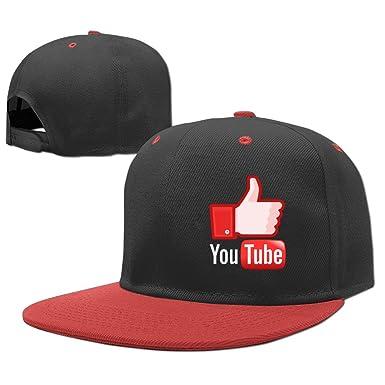 bc80d16686c53 AAWODE Kid s YouTube Logo Hats Caps - Red -  Amazon.co.uk  Clothing