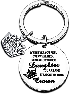 Inspirational Quotes Gifts for Daughter Niece Granddaughter Keychain Birthday Gifts for Girls Keyring Christmas Gifts Jewelry
