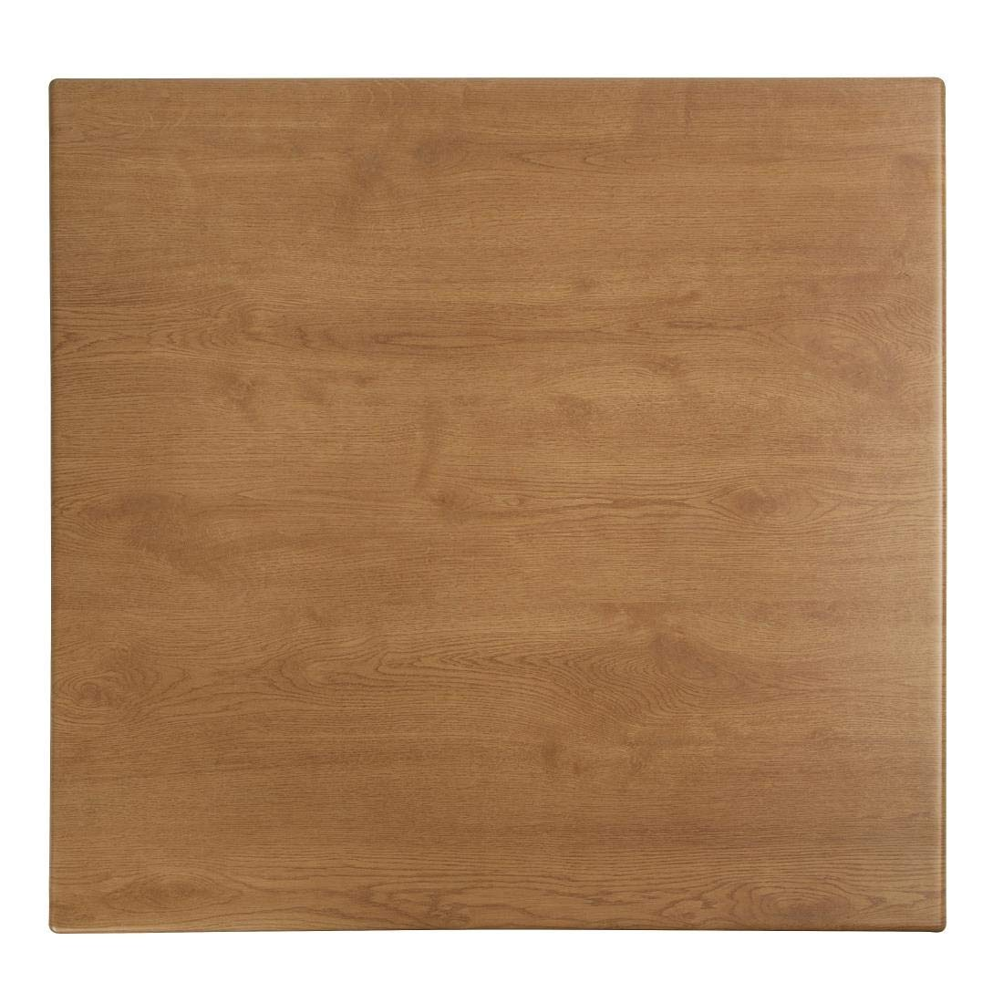 Werzalit plus CE159 Square Table Top, 600 mm, Oak