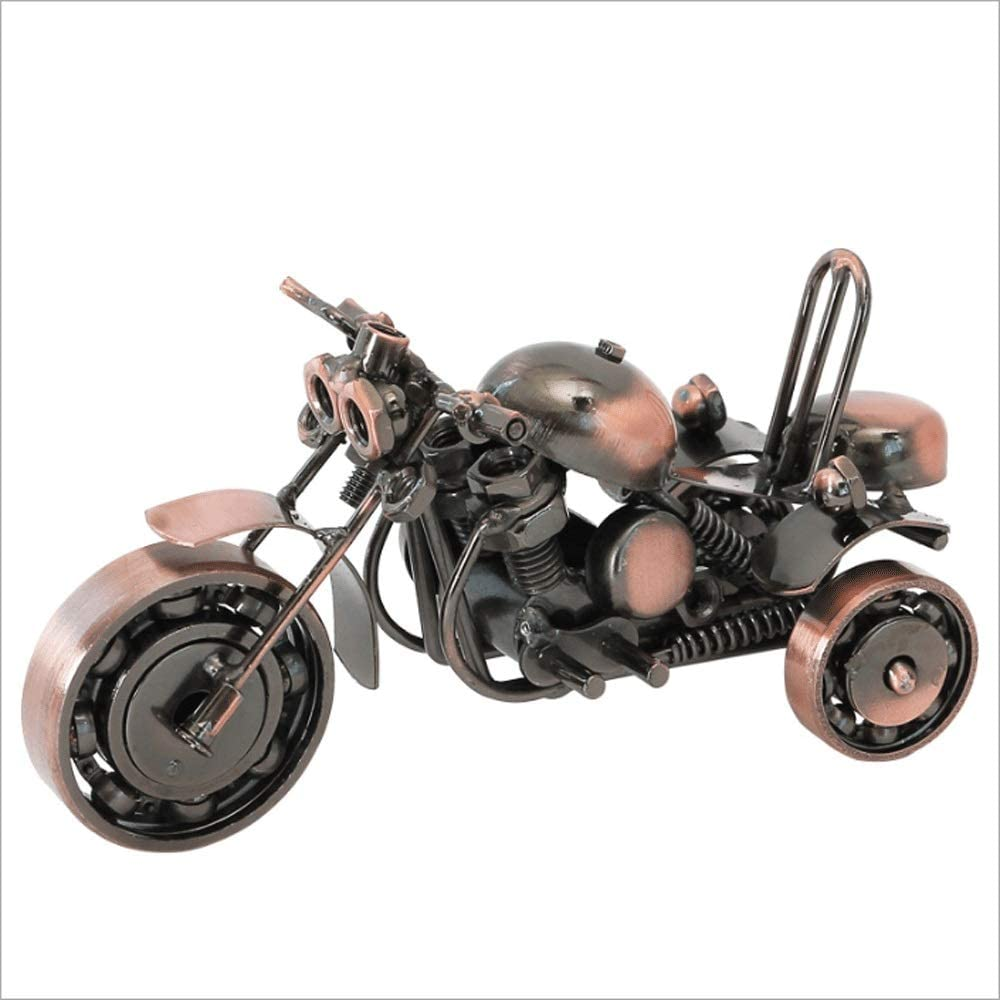 Rodciy Triciclo de Metal Modelo Oficina Estudio Escritorio Decoración del hogar Decoración Manualidades Decoración de Regalo Manualidades Estantería Adornos (Color : Metallic)