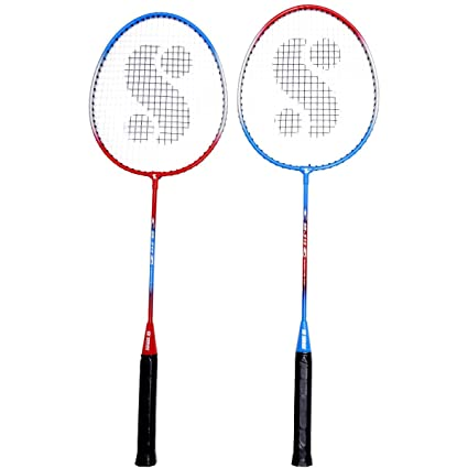 21e5dfc6ce802 Buy Silver s Sb - 515 Badminton Racket Set Online at Low Prices in India -  Amazon.in