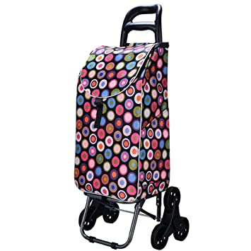 D&F Carro Dolly Subir escaleras, Azul carrito plegable, Carrito de arrastre with6 ruedas,