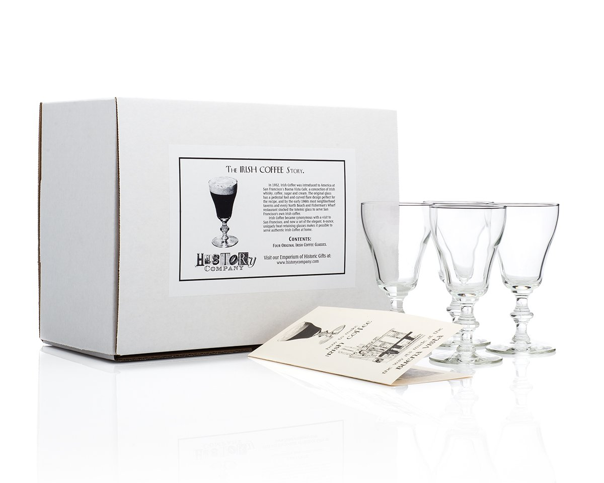 Original Irish Coffee Glass (Gift Box Set of 4) HISTORY COMPANY TT59