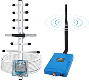 Verizon AT&T Cell Phone Signal Booster for Home/Office - Boost 4G LTE Data Dual Band 700MHz Band 12/17/13 Cell Phone Booster Repeater - 65dB ATT T-Mobile Mobile Signal Booster Amplifier & Antenna Kit