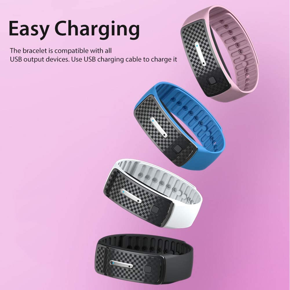 Akemaio Mosquito Repellent Bracelet Mosquito Bands Ultrasonic Pest Repeller Wrist Band Anti Mosquito Wristband Protection for Pregnant Kids Babies Pink