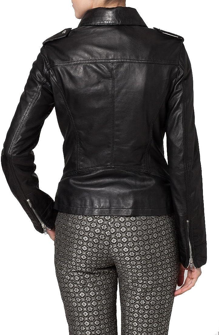 Kingdom Leather Brand New Genuine Soft Lambskin Leather Jacket For Womens Designer Wear XW059