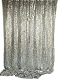Bags Under Eyes 18 Years Old Langxun 4.3ft X 8.5ft Silver Shimmer Sequin Fabric Photo Booth Backdrop Sequin Curtain  Shimmer Sequin Tablecloth( SILVER )