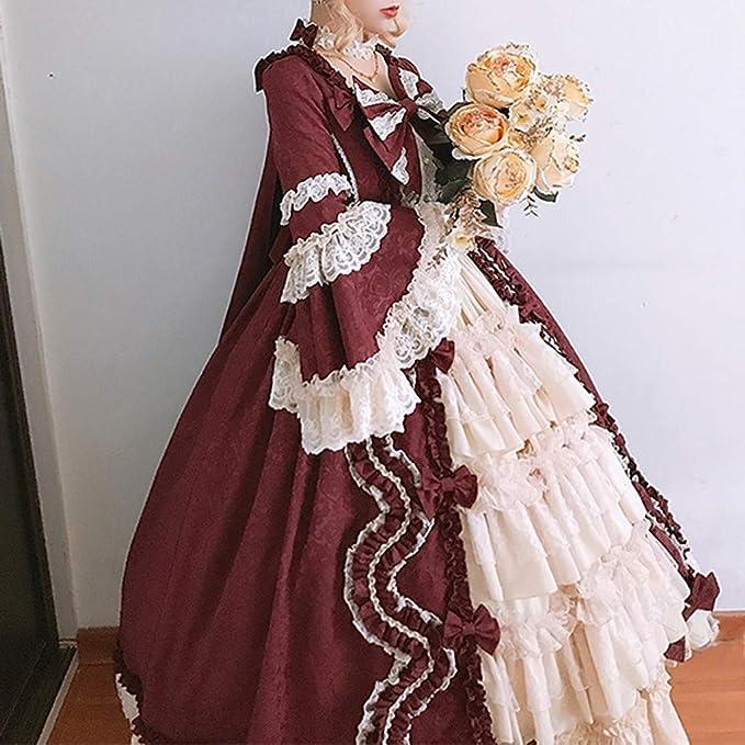 Amazon.com: MoonHome Vestido de baile rococó gótico ...