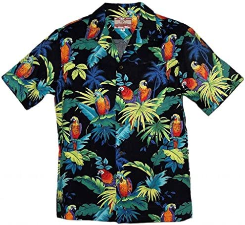 Rjc Brand Tropical Parrots Men S Hawaiian Shirt At Amazon Men S