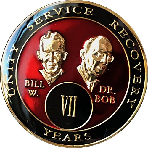 7 Year Founders Red Tri-Plate AA Medallion Bill & Bob Chip VII
