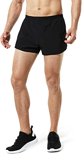 "Tesla Men's Running Shorts Quick Dry Mesh Liner Jogging Training 3""/ 4""/ 5"""