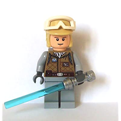 Lego Star Wars Mini Figure - Luke Skywalker Hoth with Lightsaber (Approximate: Toys & Games
