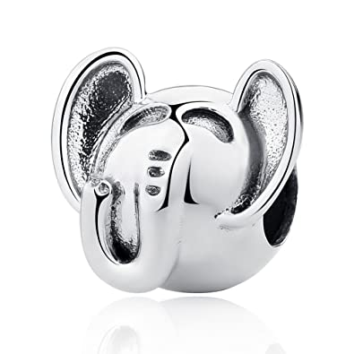 ae226e530 CHENGMEN Big Ear Lucky Elephant 925 Sterling Silver Animal Charm Fit  European Charms Mother's Day