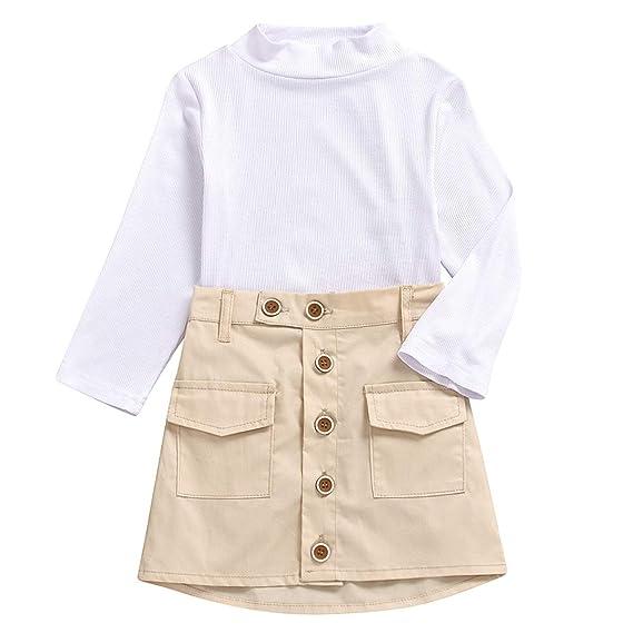 Tianhaik 2-7 años Conjunto de Ropa de niña para niños Camisa de ...