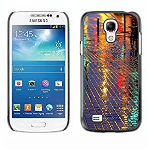 TopCaseStore / la caja del caucho duro de la cubierta de protección de la piel - Street Reflective Night City Tiles - Samsung Galaxy S4 Mini i9190 MINI VERSION!