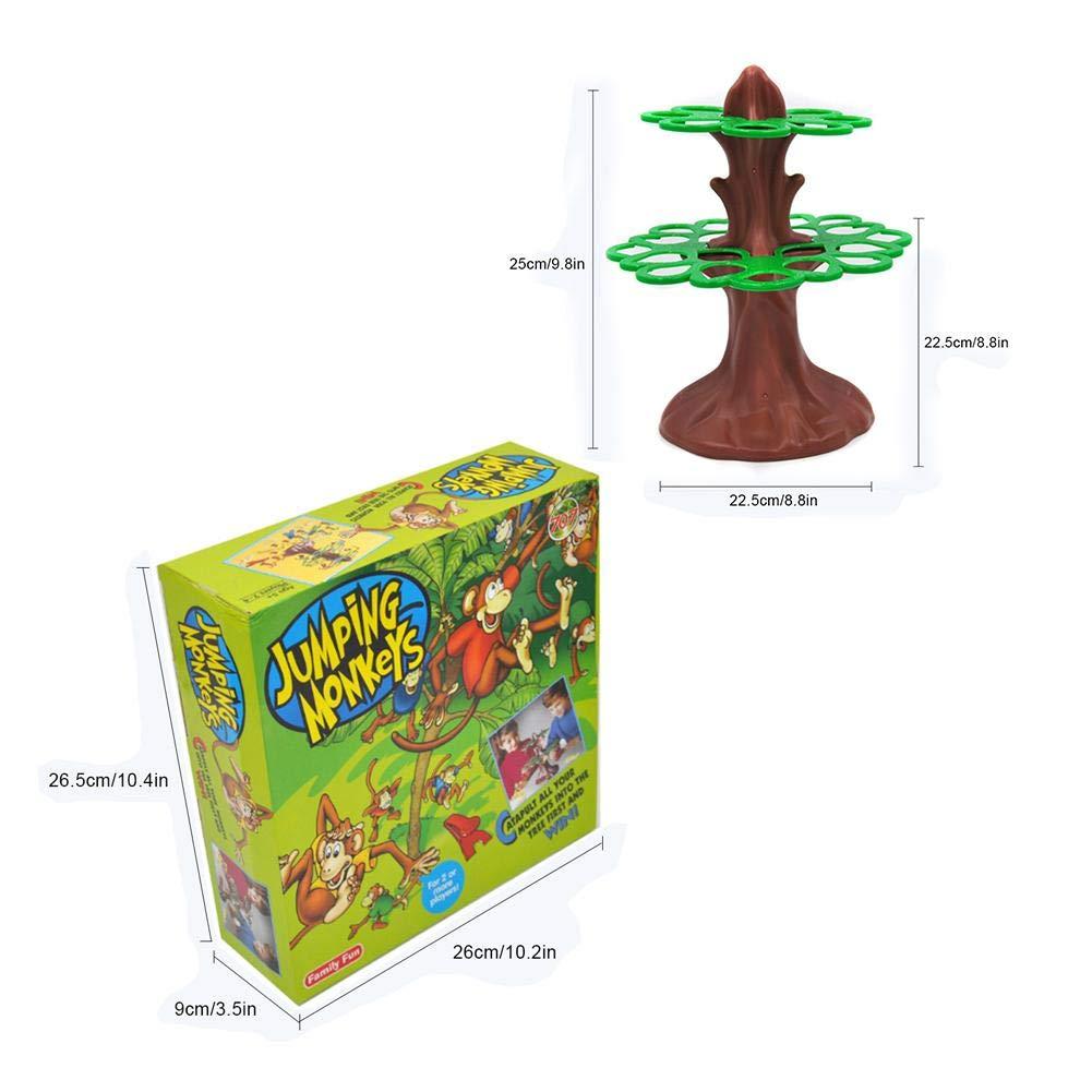 Never-hu Brettspiele f/ür Kinder Little Monkey Catapult Sportlicher Wettbewerb Baumspiele Lernspielzeug f/ür Kinder ab 5 Jahren