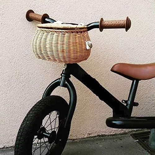 following Cesta trasera de ratán hecha a mano, cesta de bicicleta ...