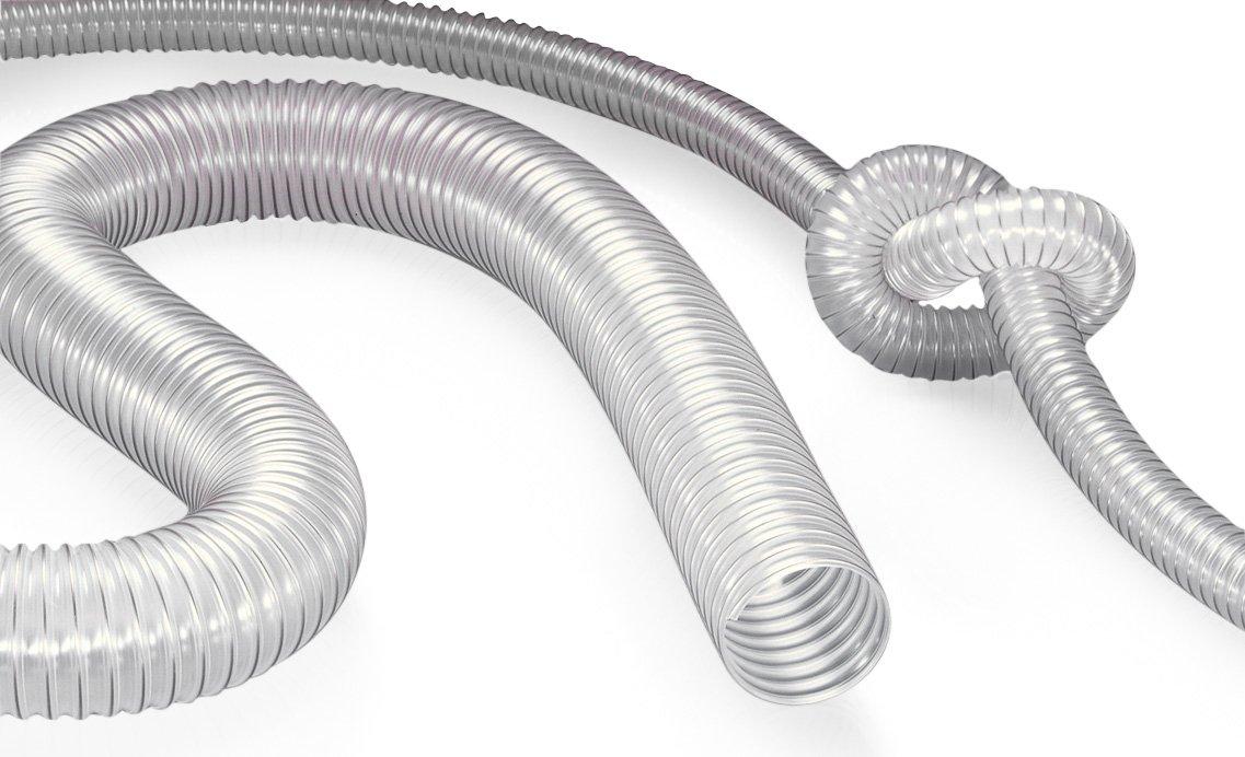PROTAPE 33000901002-0000002500 Antistatic Vacuum and Transfer Hose, Clear, 25' Length, 3.5'' ID