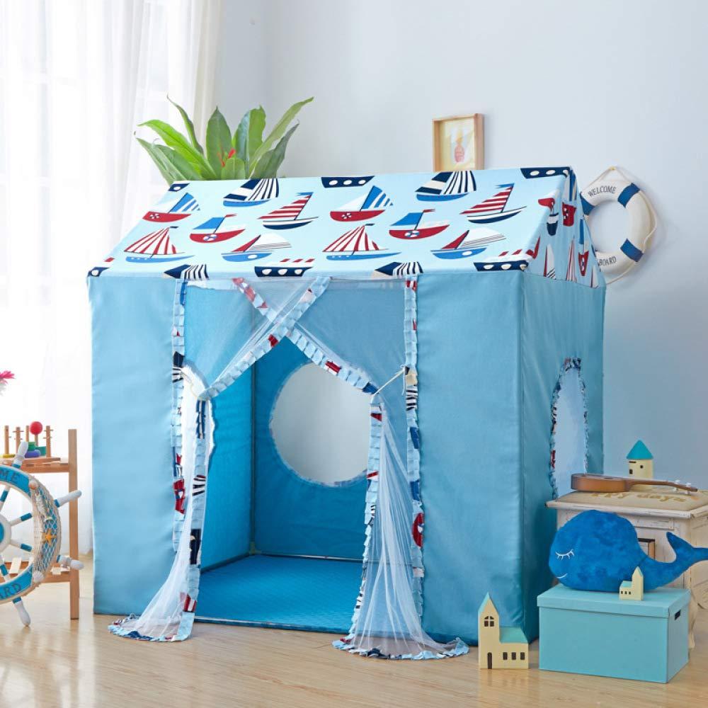 BO LU Kinder Indoor Zelt Spielhaus Dekoration Jungen Mädchen Prinzessin Märchenschloss Geburtstag Spielzeug,Rosa Blau