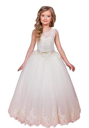 Flowerry Lace Tulle Girl Dress Flower Girl Dress Girl Prom Dress Custom 4T