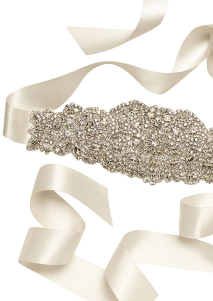 Heavily Encrusted Sash Style S1067, Ivory