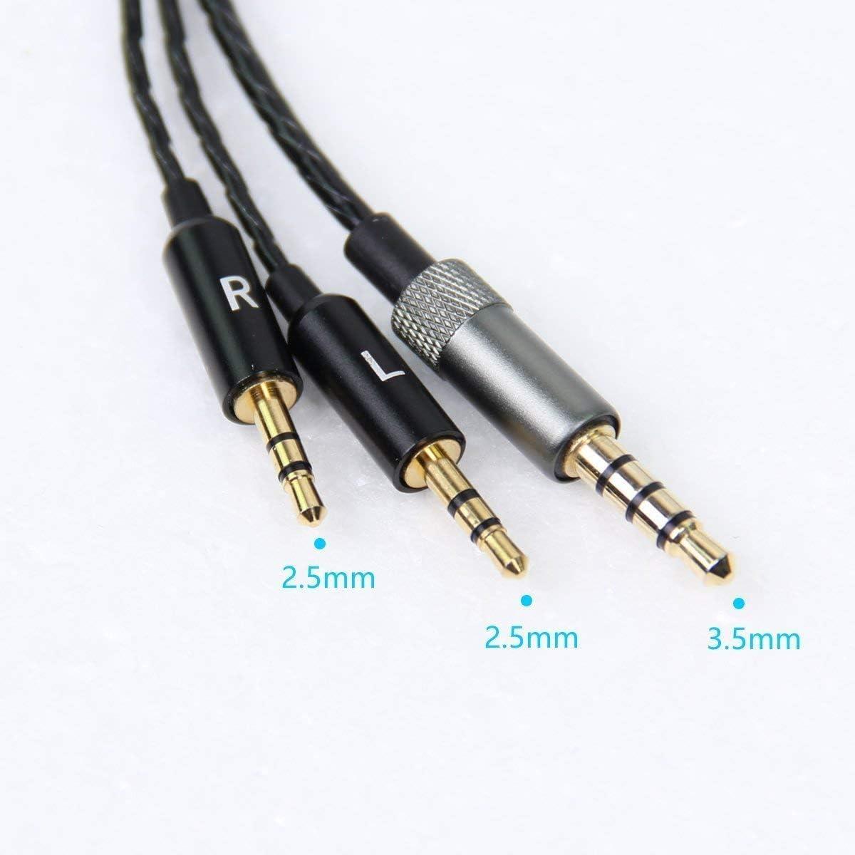 Gabriel Cable de Audio est/éreo de 2,5 mm a 3,5 mm de Repuesto con Cable Remoto con micr/ófono para Auriculares Sol Republic Master Tracks HD V8 V10 V12 X3