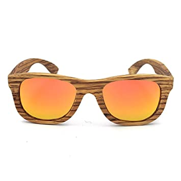 931e83a0284ae Peggy Gu Fashion Shades Retro Zebra Wood Handcraft Rimmed Lunettes de  Soleil de Couleur lentille UV400
