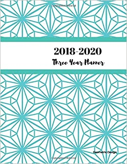 amazon co jp 2018 2020 geometric design three year planner 2018