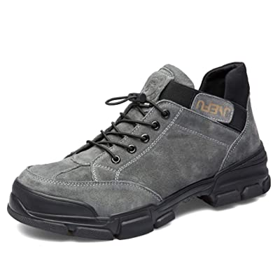 ORISTACO Safety Steel Toe Boots Mens, Comfortable Slip on Drawstring Waterproof Industrial Construction Slip Resistant Outdoor Adventure Casual Hiking Work Shoes: Shoes