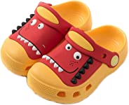 JACKSHIBO Boys Girls Clogs Toddler Little Kids Sandals Cartoon Dinosaur Garden Beach Water Slipper