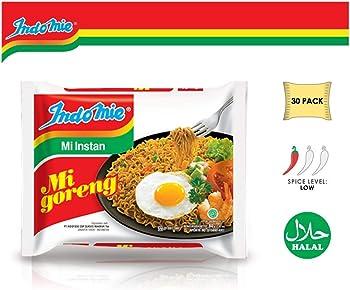30-Count Indomie Mi Goreng Instant Stir Fry Noodles