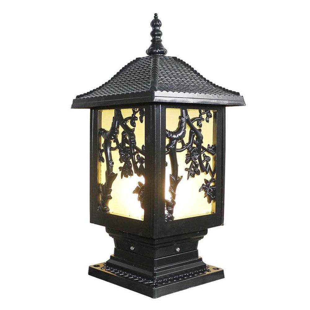 ネクシー - ヨーロッパスタイルのクリエイティブな長方形の列ランプヴィラのドアのポストの照明アンティーククラシックアルミE27ピラーライトフェンスの豪華なエレガントなLampscapeのランタン芝生の庭の入り口の結婚式の屋外防水街灯 (Color : Black) B07DDJC9LW 11697 Black Black